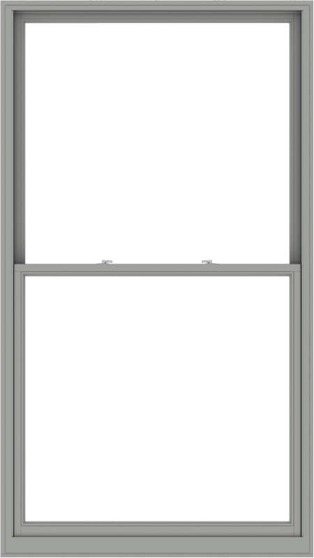 WDMA 54x96 (53.5 x 95.5 inch)  Aluminum Single Double Hung Window without Grids-1