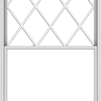 WDMA 60x108 (59.5 x 107.5 inch)  Aluminum Single Double Hung Window with Diamond Grids
