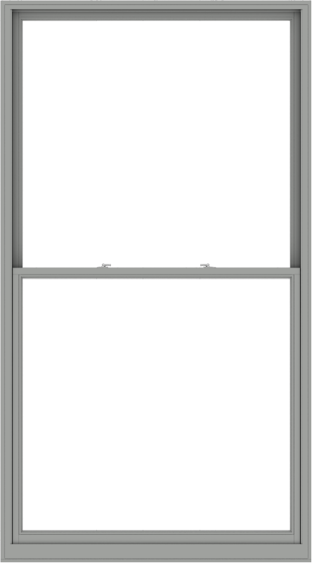 WDMA 60x108 (59.5 x 107.5 inch)  Aluminum Single Double Hung Window without Grids-1