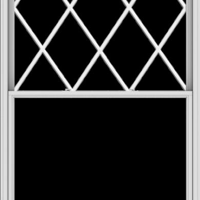 WDMA 60x114 (59.5 x 113.5 inch)  Aluminum Single Double Hung Window with Diamond Grids