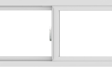 WDMA 60x18 (59.5 x 17.5 inch) Vinyl uPVC White Slide Window without Grids Interior
