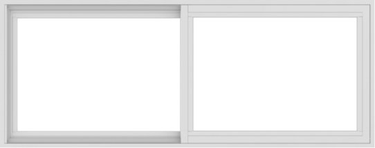WDMA 60x24 (59.5 x 23.5 inch) Vinyl uPVC White Slide Window without Grids Interior