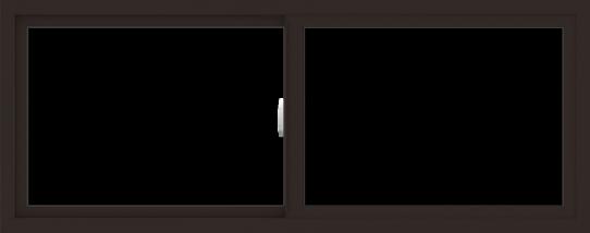 WDMA 60x24 (59.5 x 23.5 inch) Vinyl uPVC Dark Brown Slide Window without Grids Interior