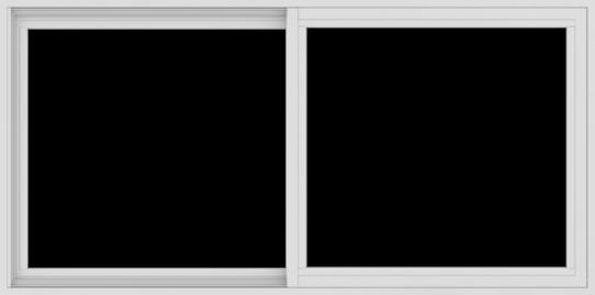 WDMA 60x30 (59.5 x 29.5 inch) Vinyl uPVC White Slide Window without Grids Interior