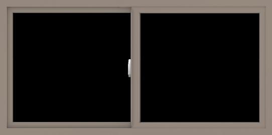WDMA 60x30 (59.5 x 29.5 inch) Vinyl uPVC Brown Slide Window without Grids Interior