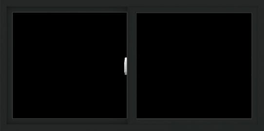 WDMA 60x30 (59.5 x 29.5 inch) Vinyl uPVC Black Slide Window without Grids Interior