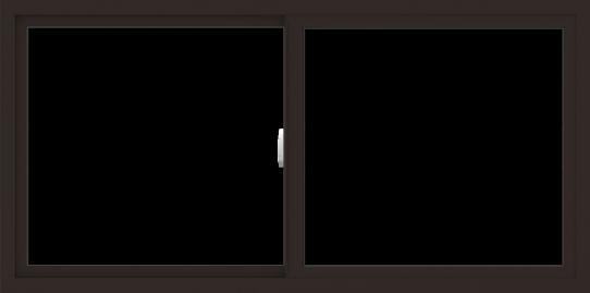 WDMA 60x30 (59.5 x 29.5 inch) Vinyl uPVC Dark Brown Slide Window without Grids Interior