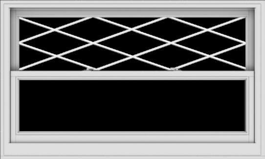 WDMA 60x36 (59.5 x 35.5 inch)  Aluminum Single Double Hung Window with Diamond Grids