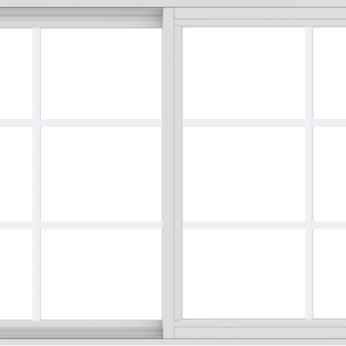 WDMA 60x36 (59.5 x 35.5 inch) Vinyl uPVC White Slide Window with Colonial Grids Exterior