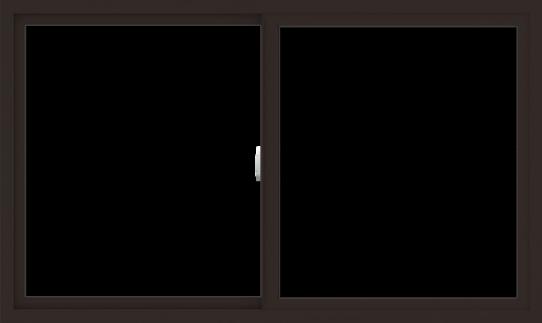 WDMA 60x36 (59.5 x 35.5 inch) Vinyl uPVC Dark Brown Slide Window without Grids Interior