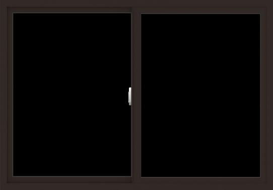 WDMA 60x42 (59.5 x 41.5 inch) Vinyl uPVC Dark Brown Slide Window without Grids Interior