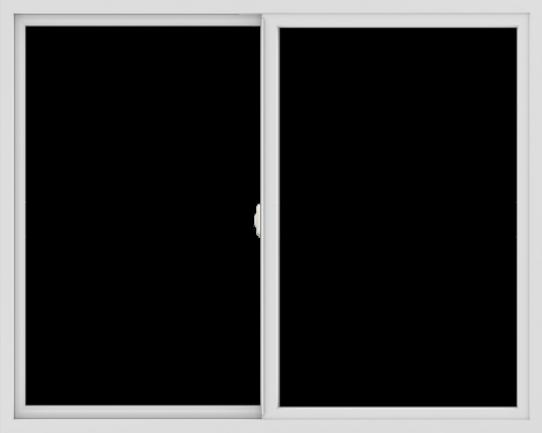 WDMA 60x48 (59.5 x 47.5 inch) Vinyl uPVC White Slide Window without Grids Interior