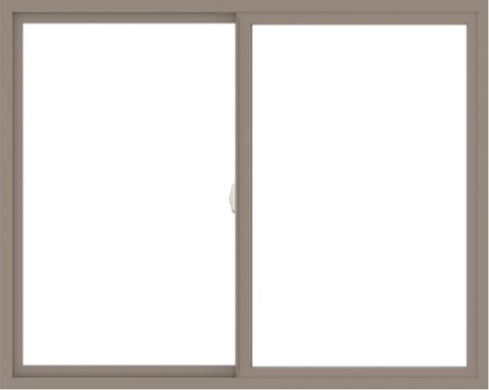 WDMA 60x48 (59.5 x 47.5 inch) Vinyl uPVC Brown Slide Window without Grids Interior