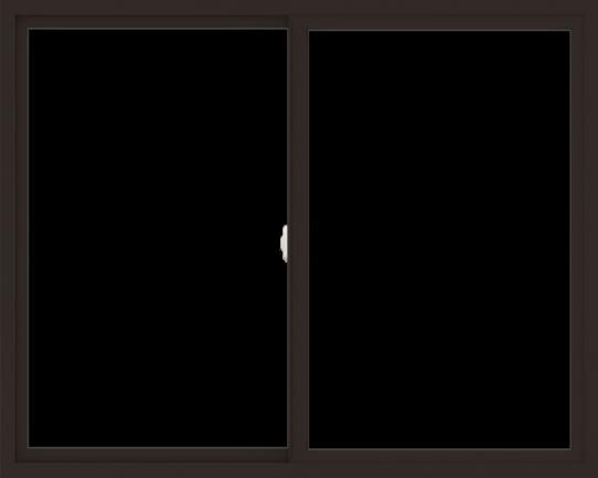 WDMA 60x48 (59.5 x 47.5 inch) Vinyl uPVC Dark Brown Slide Window without Grids Interior