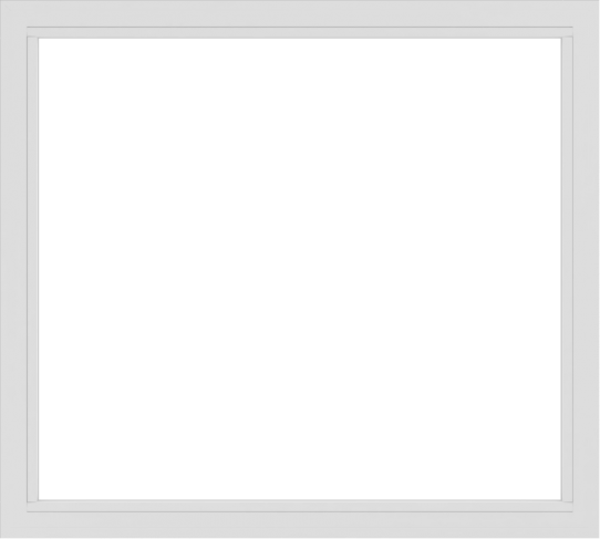 WDMA 60x54 (59.5 x 53.5 inch) Vinyl uPVC White Picture Window without Grids-2