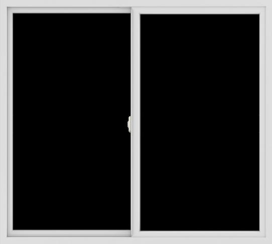 WDMA 60x54 (59.5 x 53.5 inch) Vinyl uPVC White Slide Window without Grids Interior