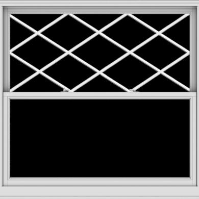 WDMA 60x57 (59.5 x 56.5 inch)  Aluminum Single Double Hung Window with Diamond Grids