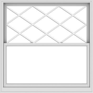 WDMA 60x60 (59.5 x 59.5 inch)  Aluminum Single Double Hung Window with Diamond Grids