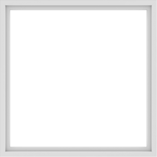 WDMA 60x60 (59.5 x 59.5 inch) Vinyl uPVC White Picture Window without Grids-1