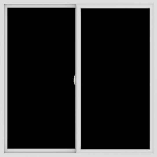 WDMA 60x60 (59.5 x 59.5 inch) Vinyl uPVC White Slide Window without Grids Interior