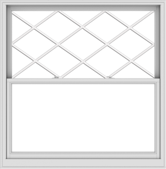 WDMA 60x61 (59.5 x 60.5 inch)  Aluminum Single Double Hung Window with Diamond Grids