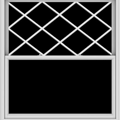 WDMA 60x66 (59.5 x 65.5 inch)  Aluminum Single Double Hung Window with Diamond Grids