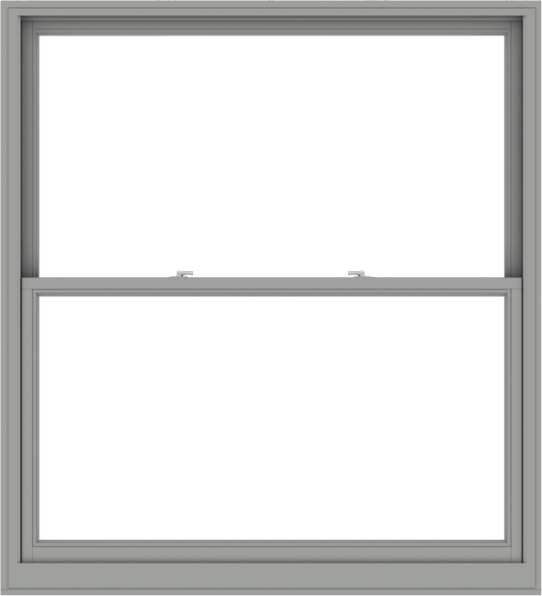 WDMA 60x66 (59.5 x 65.5 inch)  Aluminum Single Double Hung Window without Grids-1