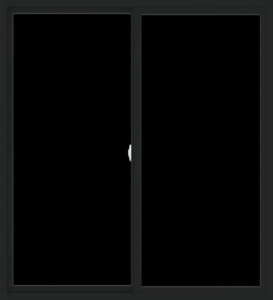 WDMA 60x66 (59.5 x 65.5 inch) Vinyl uPVC Black Slide Window without Grids Interior