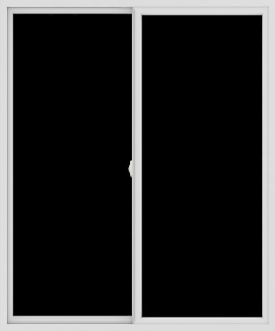 WDMA 60x72 (59.5 x 71.5 inch) Vinyl uPVC White Slide Window without Grids Interior