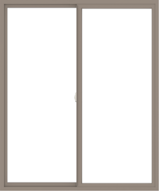 WDMA 60x72 (59.5 x 71.5 inch) Vinyl uPVC Brown Slide Window without Grids Interior