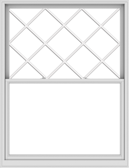 WDMA 60x78 (59.5 x 77.5 inch)  Aluminum Single Double Hung Window with Diamond Grids