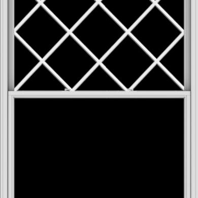 WDMA 60x84 (59.5 x 83.5 inch)  Aluminum Single Double Hung Window with Diamond Grids
