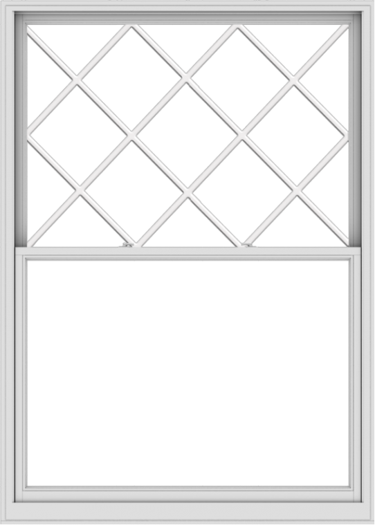 WDMA 60x84 (59.5 x 83.5 inch)  Aluminum Single Double Hung Window with Diamond Grids
