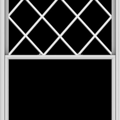 WDMA 60x90 (59.5 x 89.5 inch)  Aluminum Single Double Hung Window with Diamond Grids
