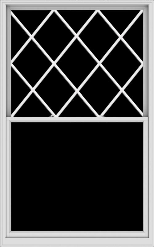 WDMA 60x96 (59.5 x 95.5 inch)  Aluminum Single Double Hung Window with Diamond Grids