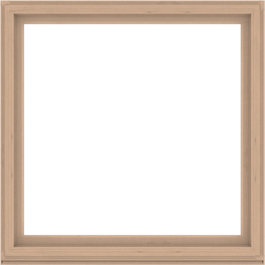 WDMA 64x64 (63.5 x 63.5 inch) Composite Wood Aluminum-Clad Picture Window without Grids-2