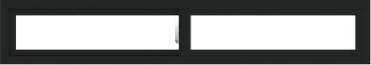 WDMA 66x12 (65.5 x 11.5 inch) Vinyl uPVC Black Slide Window without Grids Interior
