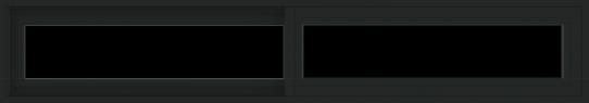 WDMA 66x12 (65.5 x 11.5 inch) Vinyl uPVC Black Slide Window without Grids Exterior
