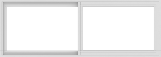 WDMA 66x24 (65.5 x 23.5 inch) Vinyl uPVC White Slide Window without Grids Interior