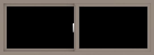 WDMA 66x24 (65.5 x 23.5 inch) Vinyl uPVC Brown Slide Window without Grids Interior