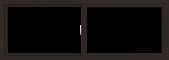 WDMA 66x24 (65.5 x 23.5 inch) Vinyl uPVC Dark Brown Slide Window without Grids Interior