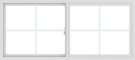 WDMA 66x30 (65.5 x 29.5 inch) Vinyl uPVC White Slide Window with Colonial Grids Exterior