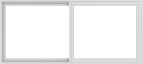 WDMA 66x30 (65.5 x 29.5 inch) Vinyl uPVC White Slide Window without Grids Interior