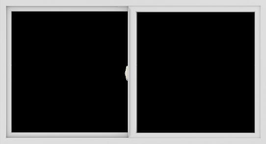 WDMA 66x36 (65.5 x 35.5 inch) Vinyl uPVC White Slide Window without Grids Interior