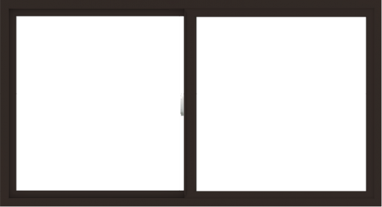 WDMA 66x36 (65.5 x 35.5 inch) Vinyl uPVC Dark Brown Slide Window without Grids Interior