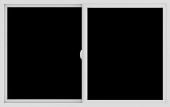 WDMA 66x42 (65.5 x 41.5 inch) Vinyl uPVC White Slide Window without Grids Interior