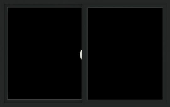 WDMA 66x42 (65.5 x 41.5 inch) Vinyl uPVC Black Slide Window without Grids Interior