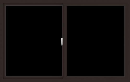 WDMA 66x42 (65.5 x 41.5 inch) Vinyl uPVC Dark Brown Slide Window without Grids Interior