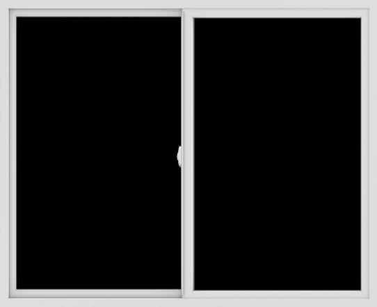 WDMA 66x54 (65.5 x 53.5 inch) Vinyl uPVC White Slide Window without Grids Interior