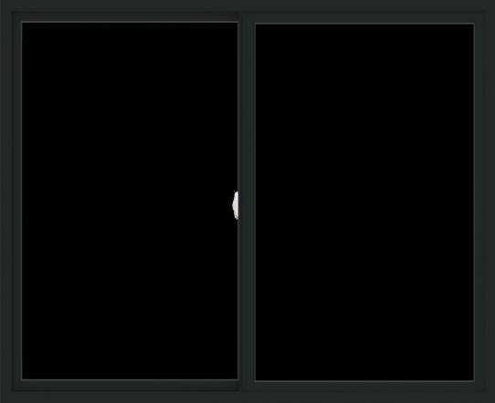 WDMA 66x54 (65.5 x 53.5 inch) Vinyl uPVC Black Slide Window without Grids Interior